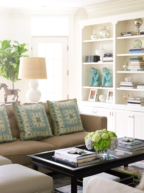 Brown And Turquoise Living Room Design Ideas