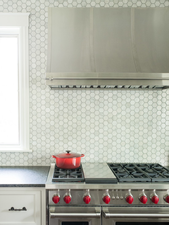 marble hex backsplash transitional kitchen kristin petro