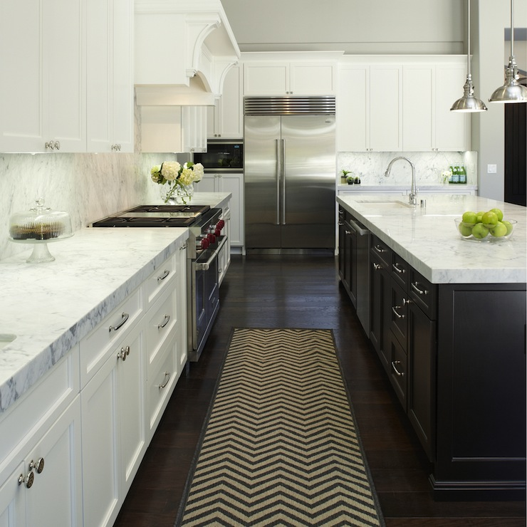 Transitional Kitchens With White Cabinets: Yoke Pendants With Small Shade