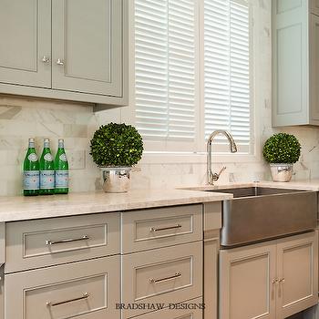 Cream Marble Countertops, Transitional, kitchen, Bradshaw Designs