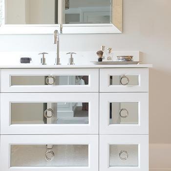 Mirrored Washstand, Contemporary, bathroom, Susan Glick Interiors