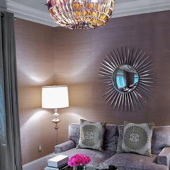 Purple Sofa, Contemporary, living room, Susan Glick Interiors