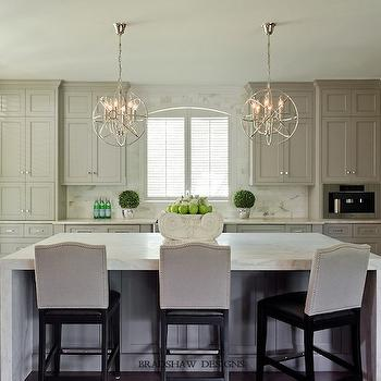 Light Taupe Cabinets Transitional Kitchen Bradshaw