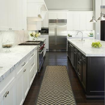 Chevron Runner, Transitional, kitchen, Fautt Homes