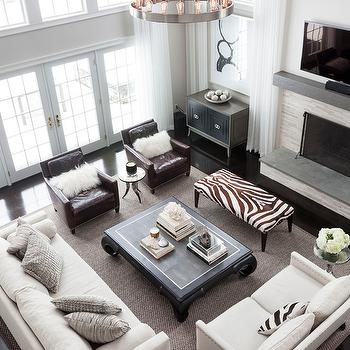 Zebra Bench, Transitional, living room, Susan Glick Interiors