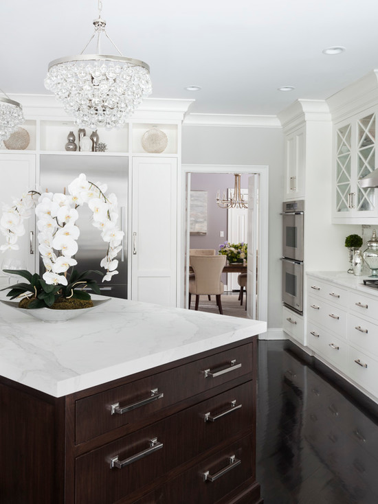 Espresso Center Island, Transitional, kitchen, Susan Glick Interiors