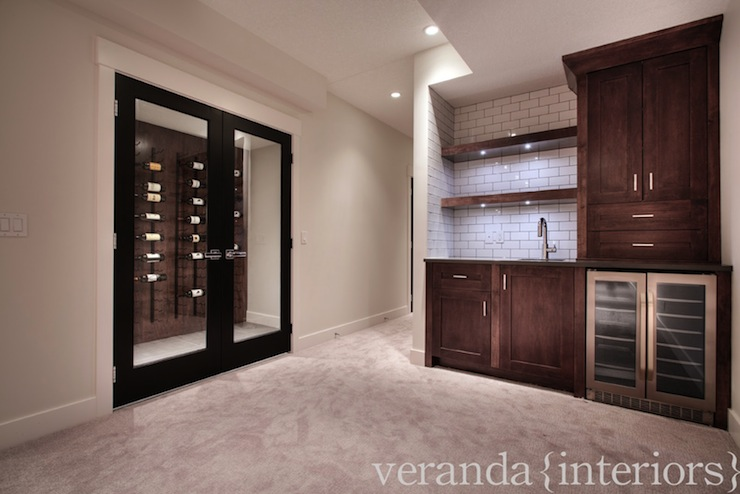 Basement Wine Cellar Contemporary Basement Veranda