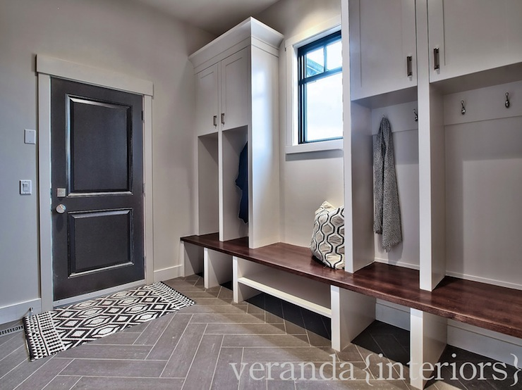 Mudroom Lockers Contemporary Laundry Room Veranda