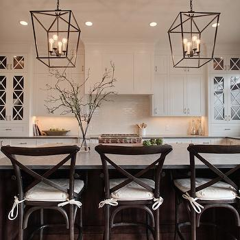 Restoration hardware flatiron dining table transitional kitchen veranda interiors - Madeleine bar stool ...