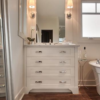 Good Vendome Sconce View Full Size. Gorgeous Bathroom With White Dresser Style  ...