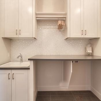 White And Gray Laundry Room