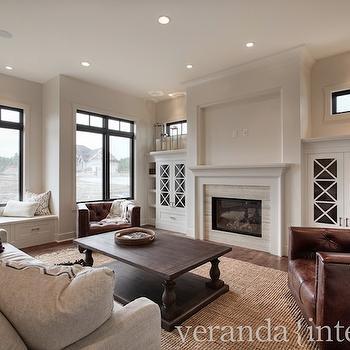 Restoration Hardware Coffee Table, Transitional, living room, Veranda Interiors