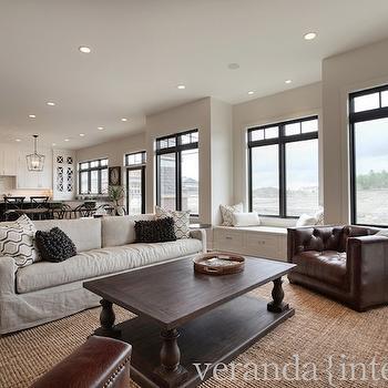 Restoration Hardware Sofa, Transitional, living room, Veranda Interiors