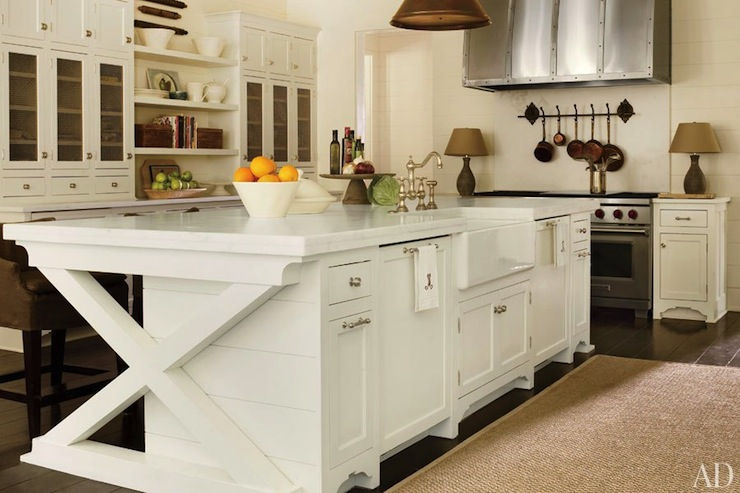 Kitchen living rooms dining kitchen living dining kitchen island - X Kitchen Island Transitional Kitchen Architectural Digest