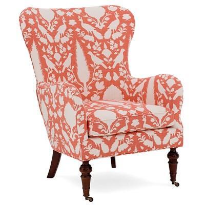 Coral Astrid Floral Print Arm Chair