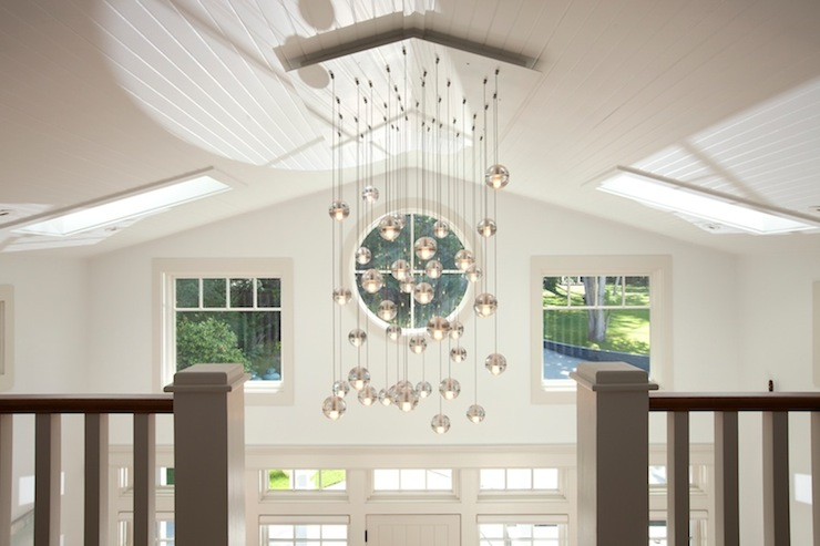 Hanging Chandelier Two Story Foyer : Two story foyer transitional entrance jodi foster