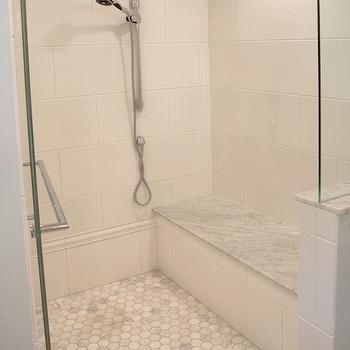 Carrera Hex Shower Floor, Traditional, bathroom, Lamantia