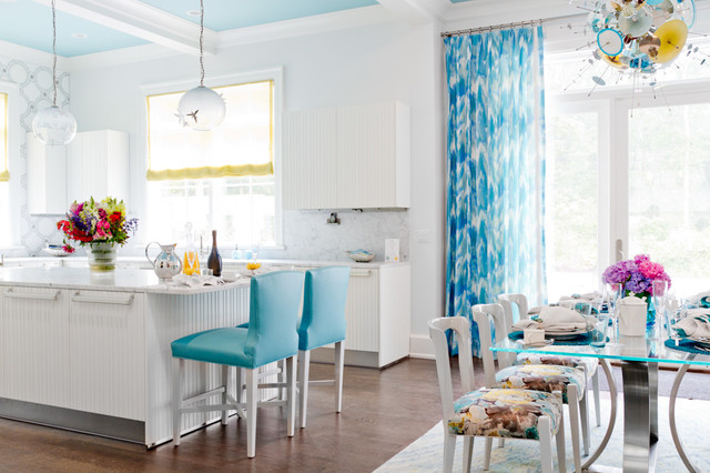turquoise and yellow kitchen contemporary kitchen house