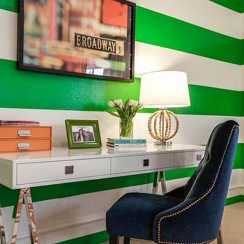 Sawhorse Desk, Contemporary, girl's room, Underwood Interiors