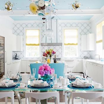 Turquoise Blue Ceiling, Contemporary, kitchen, Duneier Design