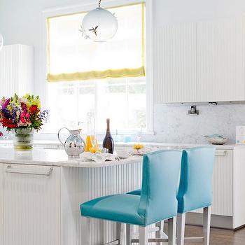 Turquoise Blue Barstools, Contemporary, kitchen, Duneier Design