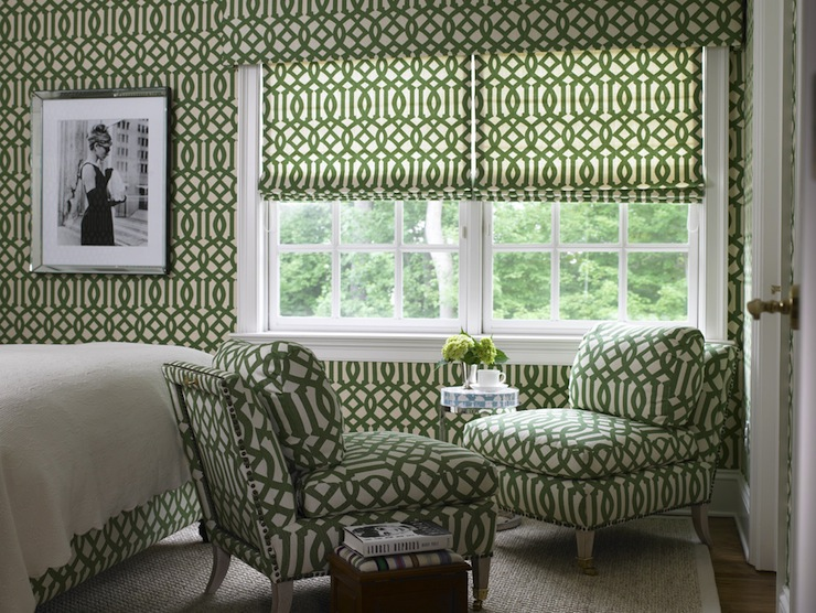 green trellis wallpaper schumacher - photo #6