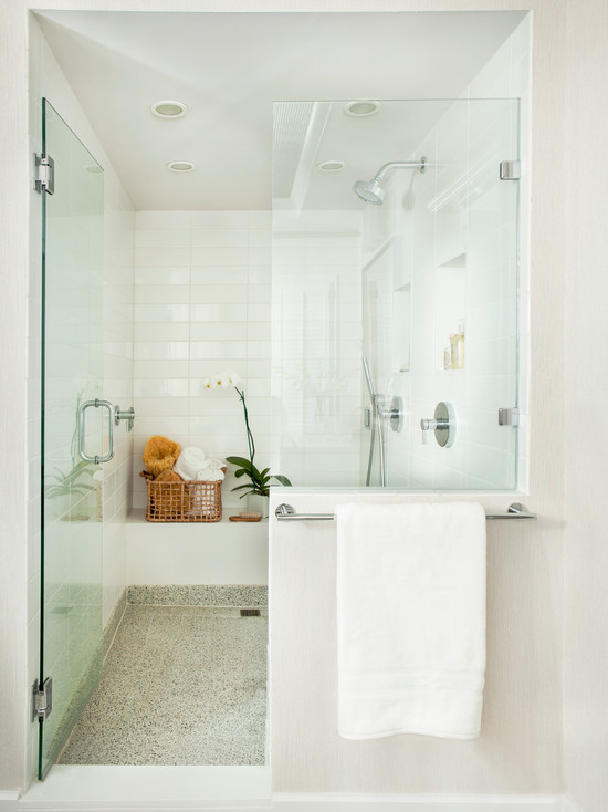Zen Shower Transitional Bathroom Mark Williams Design