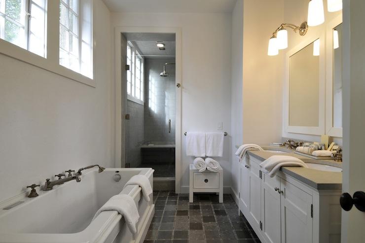 White Bathroom Mirrors Transitional Bathroom Baker