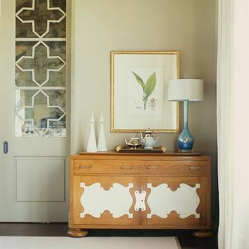 Antiqued Mirrored Doors, Transitional, entrance/foyer, Jan Showers