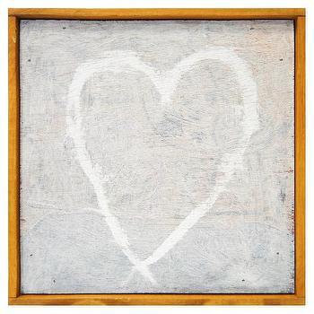 Sugarboo Designs Little Print White Heart I Layla Grayce