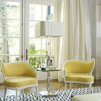 Yellow Chairs, Contemporary, living room, Jan Showers