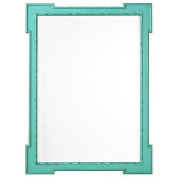 Turquoise Mirror Shabby Chic Distressed By Greenfoxstudio