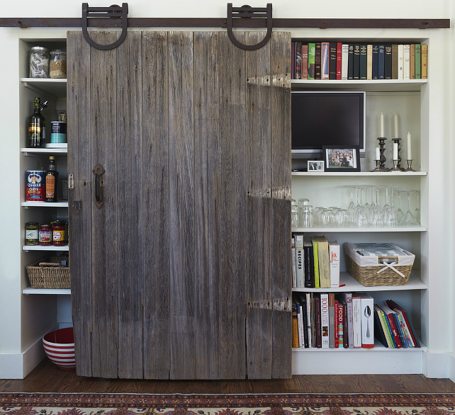 Pantry With Barn Door Transitional Kitchen Yankee Magazine