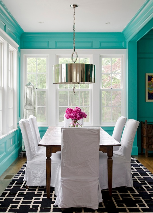 Tiffany Blue Room Contemporary Dining Room Olson Lewis