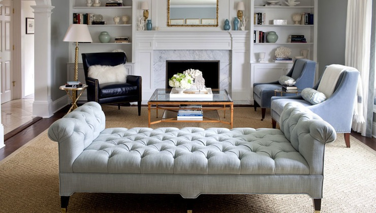 Tufted Bench - living room - Morgan Harrison Home