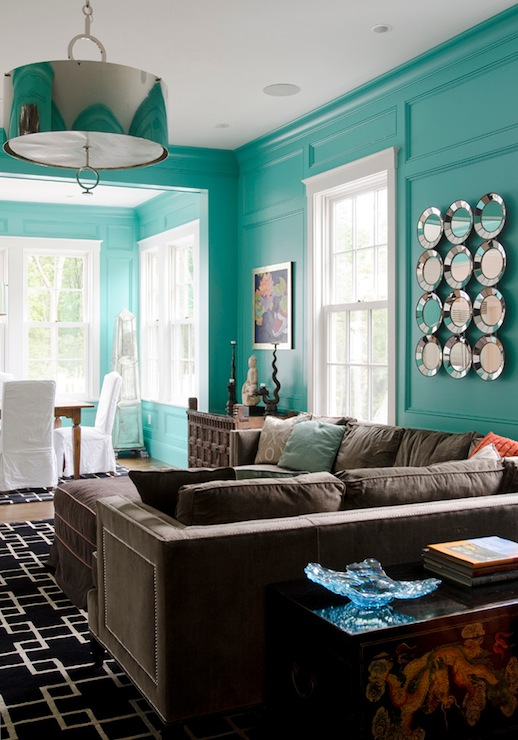 Tiffany Wall Paint - Contemporary - living room - Olson Lewis