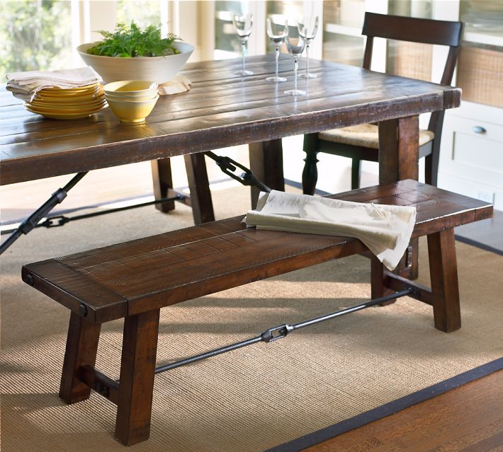 Kitchen Table With Bench: Pottery Barn Benchwright Dining Table And Benchwright