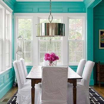 Tiffany Blue Room, Contemporary, dining room, Olson Lewis