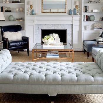Tufted Bench, living room, Morgan Harrison Home
