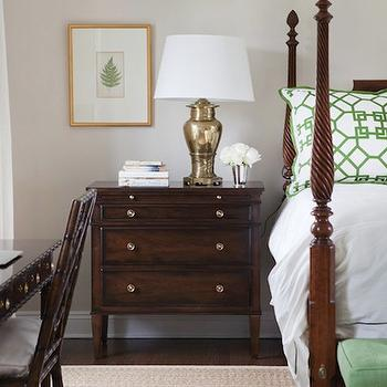 White And Green Bedding Transitional Bedroom Morgan Harrison Home