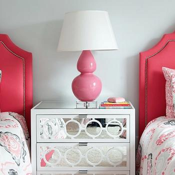 Hot Pink Headboards, Transitional, girl's room, Morgan Harrison Home