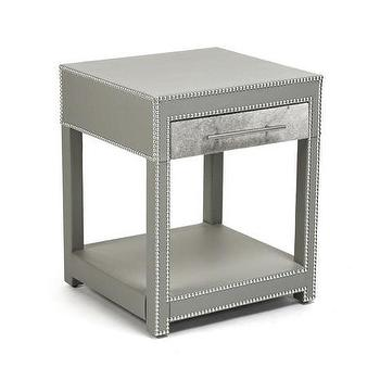Kitson 3 Drawer Grey Nightstand