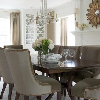 Taupe Dining Chairs, Transitional, dining room, Morgan Harrison Home