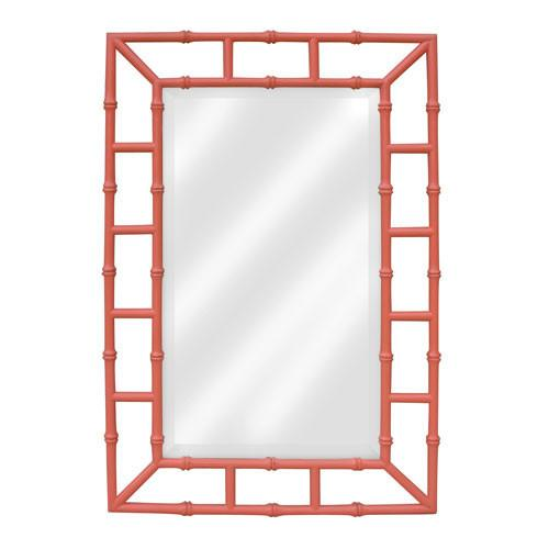 coral pink bamboo border mirror view full size