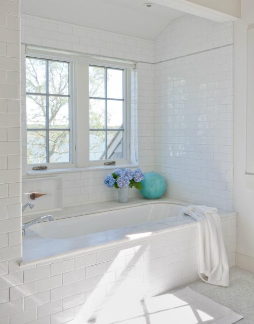Subway Tile Shower Surround Transitional Bathroom Wettling