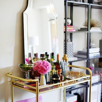 gold bamboo mirror eclectic dining room sherwin williams enlightened lime matchbook magazine. Black Bedroom Furniture Sets. Home Design Ideas