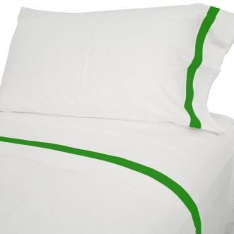 Green Border White Sheets
