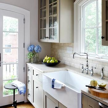 Lovely Greige Kitchen Cabinets