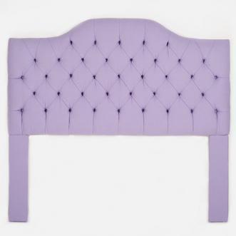 Lavender Linen Tufted Camelback Headboard I Biscuit Home