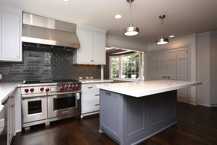 Gray Kitchen Backsplash Contemporary Kitchen Har